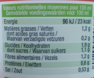 Velouté trio de legumes et quinoa - Informations nutritionnelles - fr
