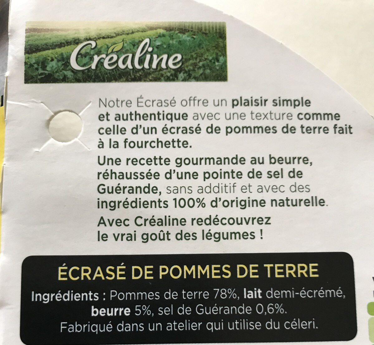 L'ecrasé de pomme de terre - Ingrédients - fr