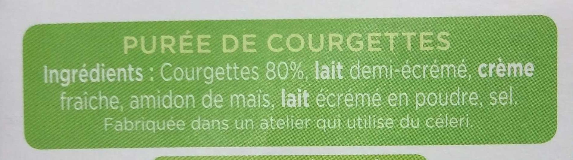 La purée courgettes - Ingrédients - fr