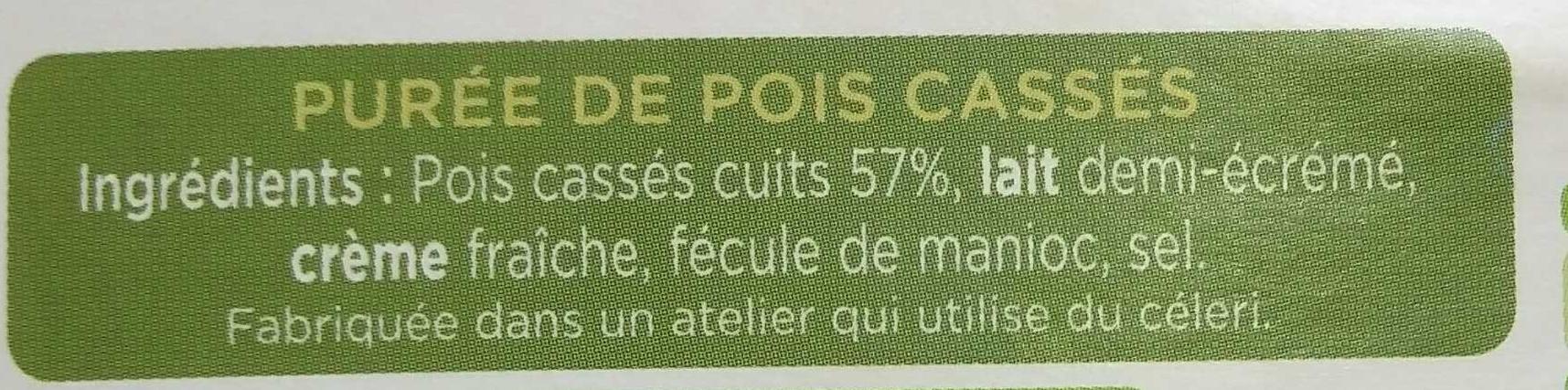 Purée de Pois Cassés - Ingrédients - fr