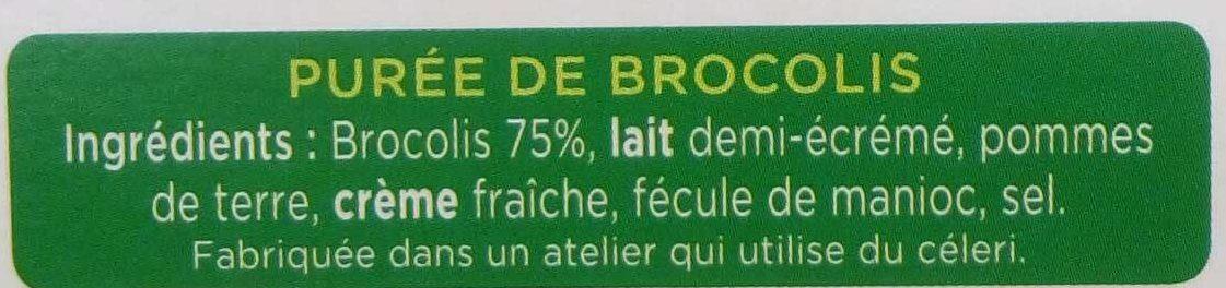 La Purée Brocolis - Ingrédients - fr