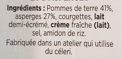 Puree de saison asperges - Ingrédients - fr