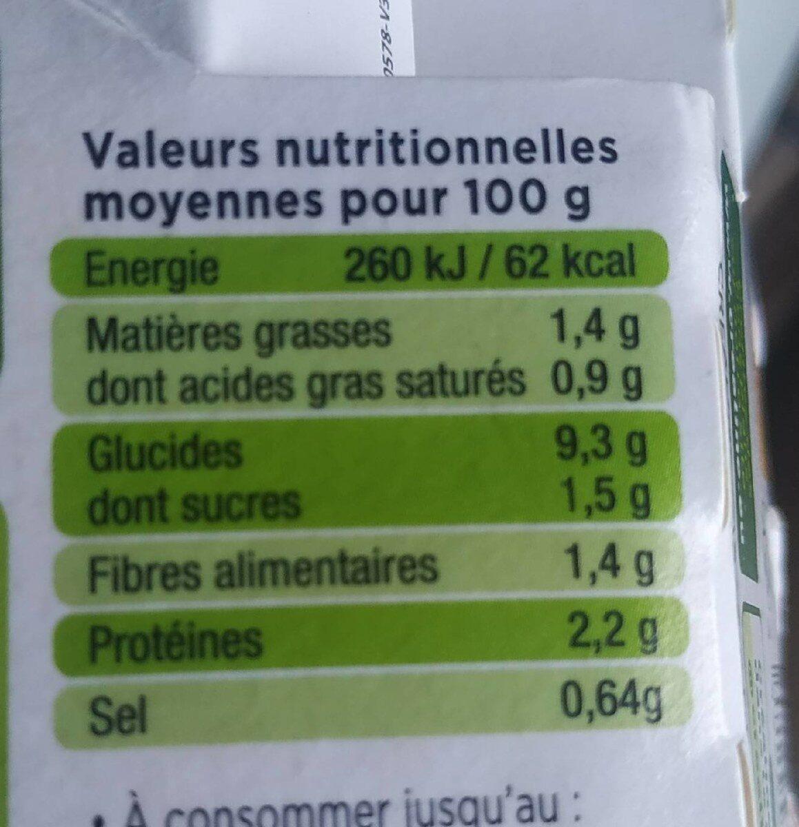 Purée de saison - Asperges - Informations nutritionnelles - fr