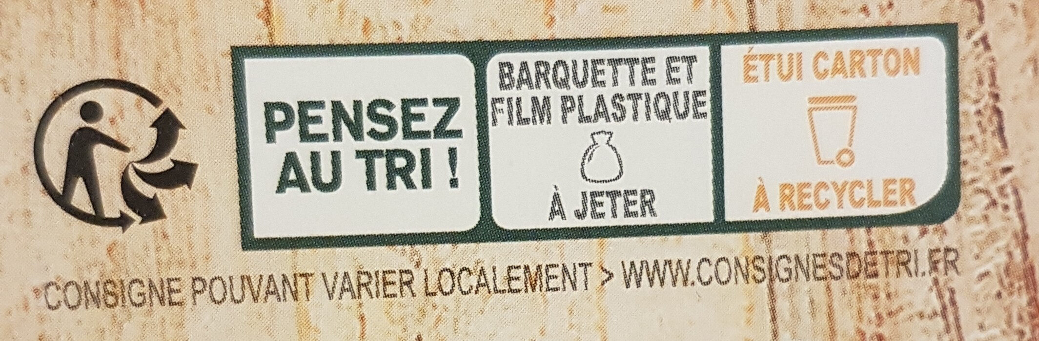 Puree de saison asperges - Recycling instructions and/or packaging information - fr