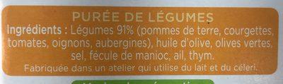 La purée provençale - Ingrédients - fr