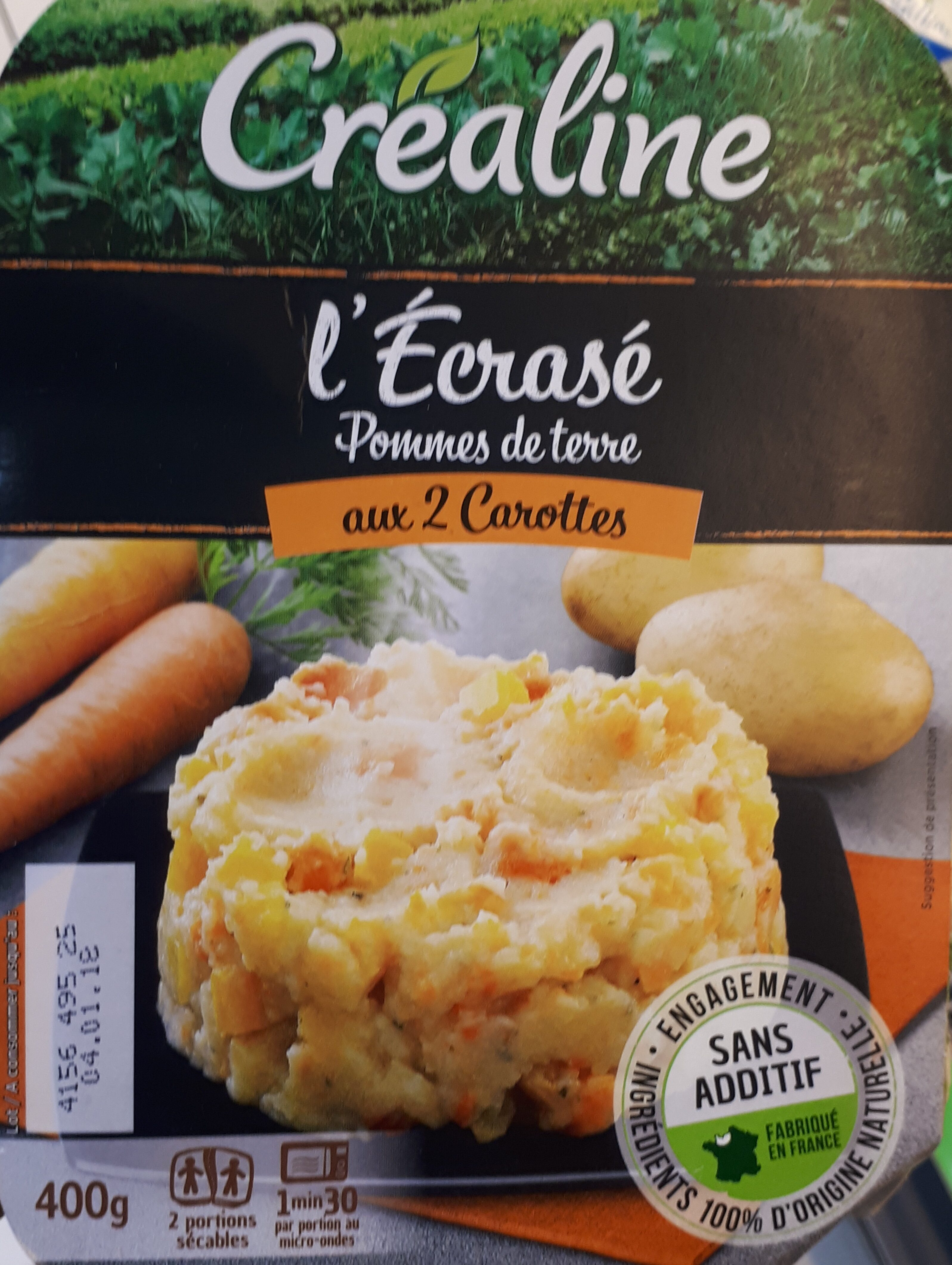 L'Écrasé de pommes de terre aux 2 carottes - Produit - fr