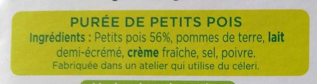La Purée Petits Pois - Ingrédients - fr