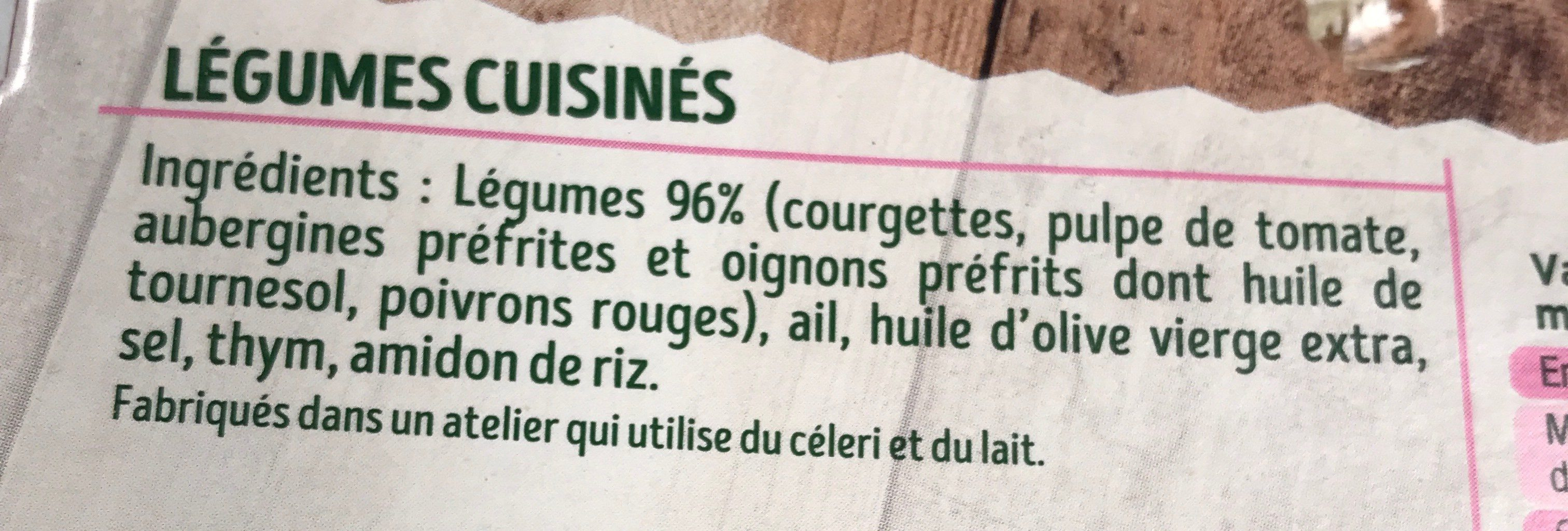 Ratatouille mijotee - Ingrédients