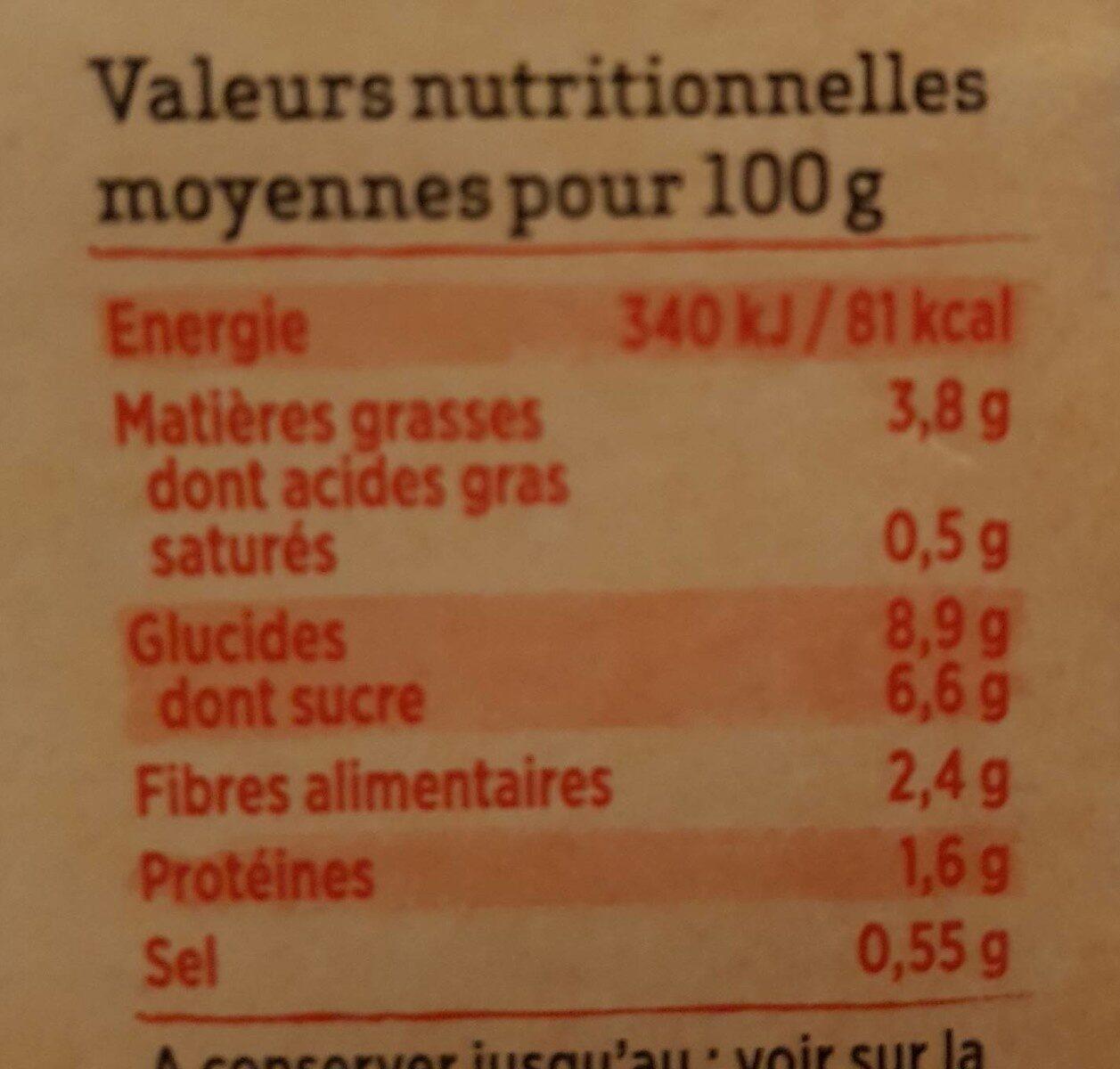 Tajine de légumes - Informations nutritionnelles - fr