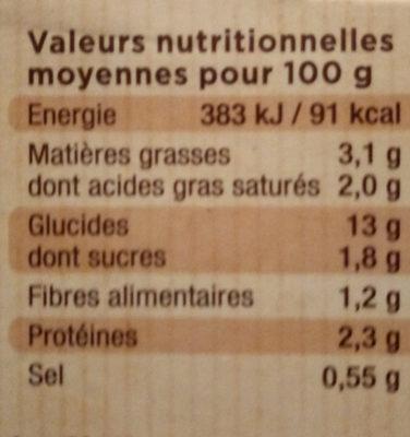Mes purées Bio - Voedingswaarden