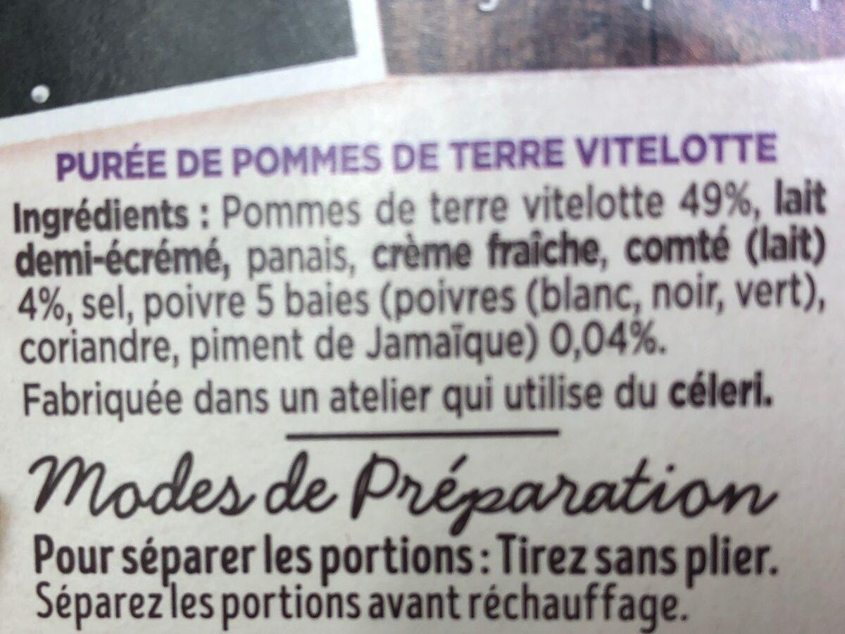 Création de l'Atelier purée pommes de terre vitelotte - Ingrédients - fr