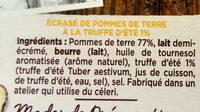 Écrasé de pomme de terre à la truffe d'été 1% - Ingredients