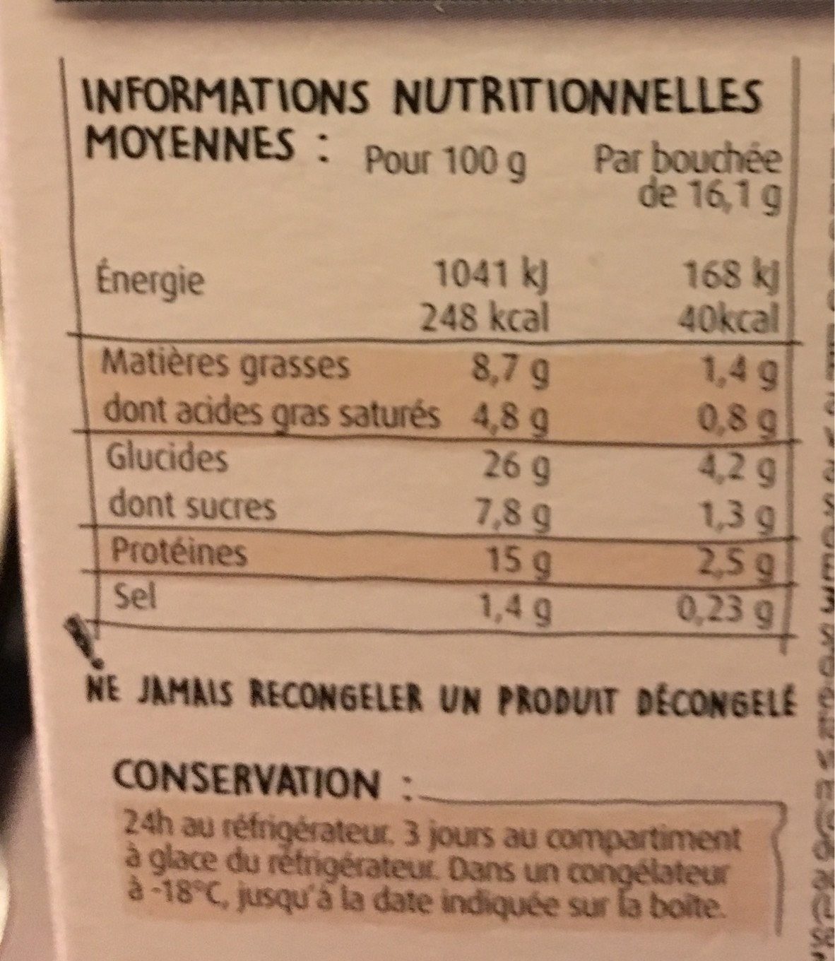 Mes mini cheeseburgers preferes - Nutrition facts - fr