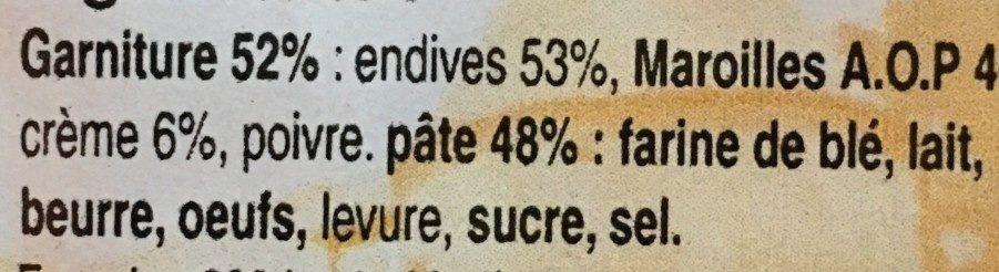 Flamiche aux endives et maroilles - Ingrédients - fr