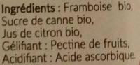 Framboise Bio - Inhaltsstoffe - fr
