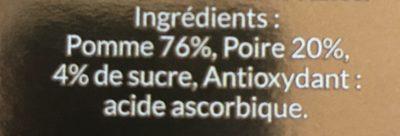 Pomme et poire - Ingrédients - fr