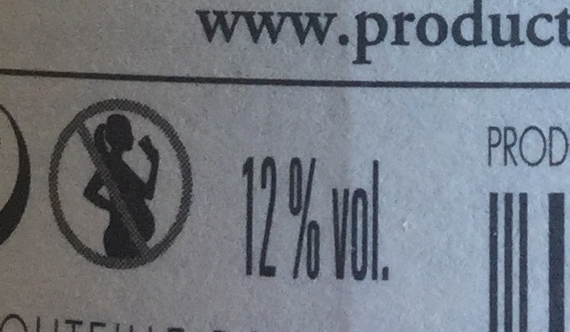 Vin rouge 2014 - Nutrition facts - fr