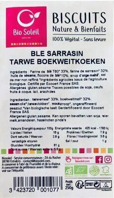 Biscuits Nature et Bienfaits Blé Sarrasin - Product