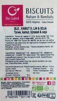 Biscuit Nature et Bienfaits Blé, Kamut, Lin et Soja - Product