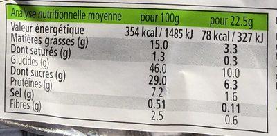 Madeleines du pâtissier 100% Épeautre - Nutrition facts