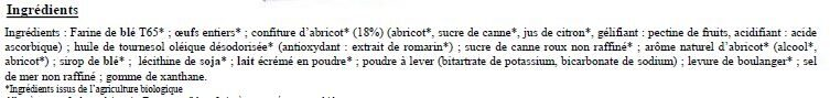 Keeny Bio Confiture d'Abricot - Ingredients