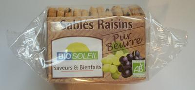 Sablés Raisins - Pur beurre - Produit