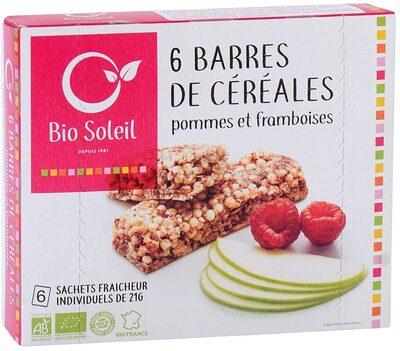 Barres de céréales pommes et framboises - Product