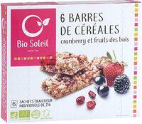Barre de Céréales cranberry et fruits des bois - Product
