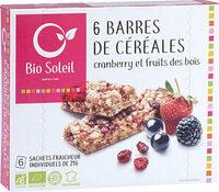 Barres de Céréales Cranberry - Product - fr