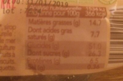 Panettone - Nutrition facts - fr