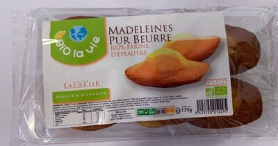 Madeleines Bio Pur Beurre 100% Farine D'épeautre - Produit