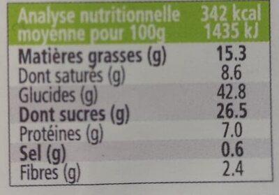 Madeleines Bio Pur Beurre 100% Farine D'épeautre - Ingrédients - fr