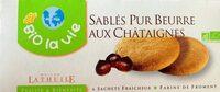 Sablés Pur Beurre Aux Châtaignes - Produit