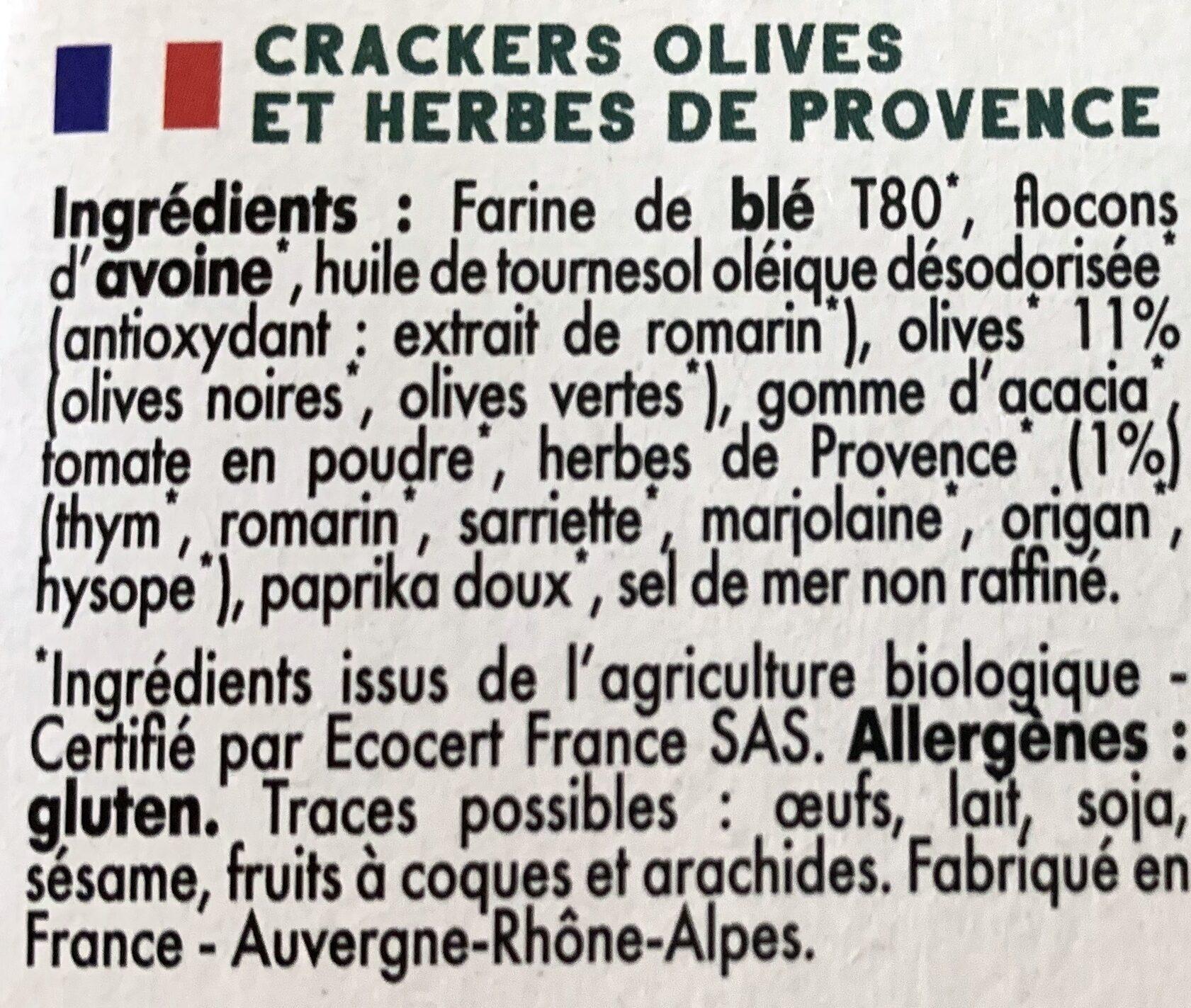 Mybioscore Olives et Herbes de Provence - Ingrédients - fr
