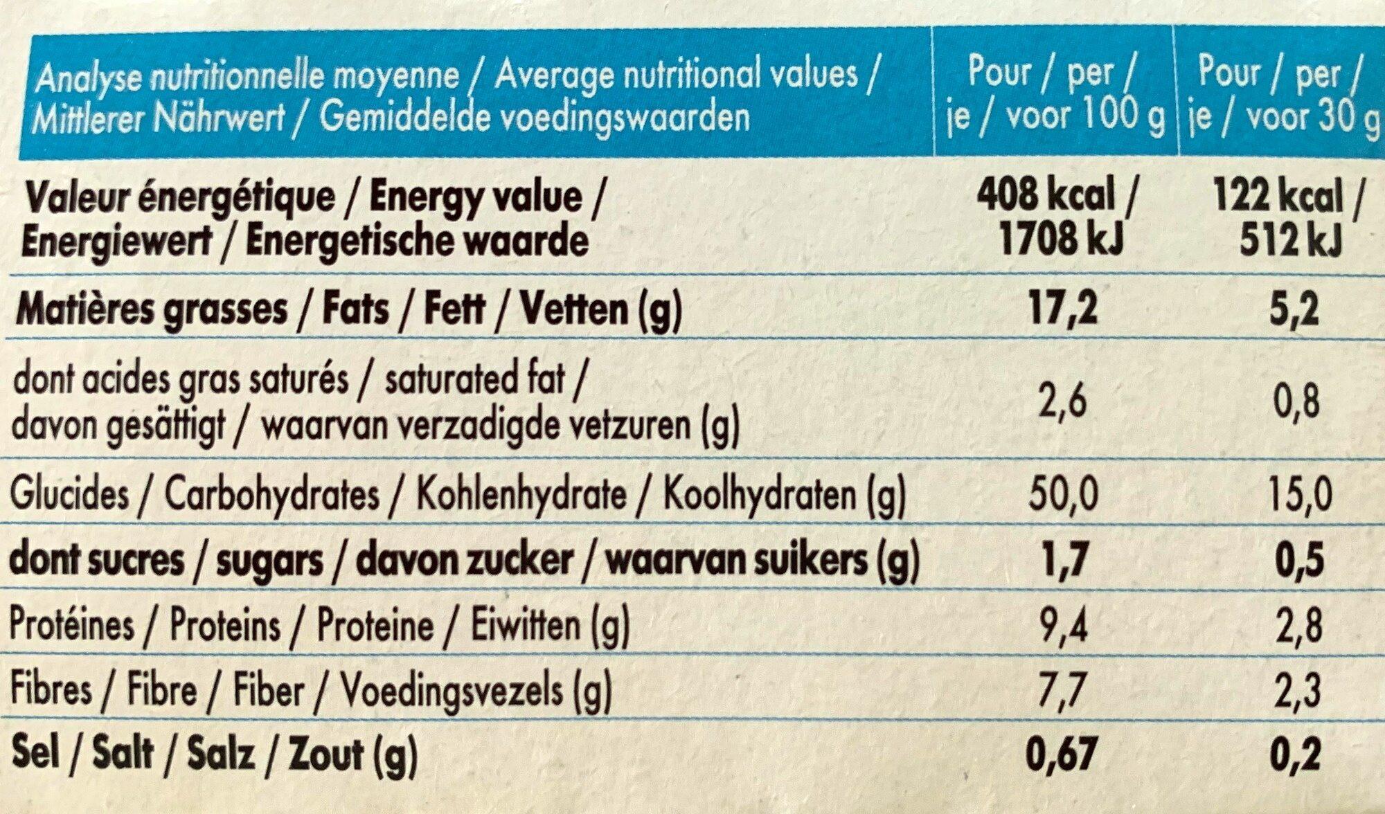 Mybioscore Olives et Herbes de Provence - Informations nutritionnelles - fr