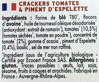 Mybioscore Tomates & Piment d'Espelette - Ingrédients - fr