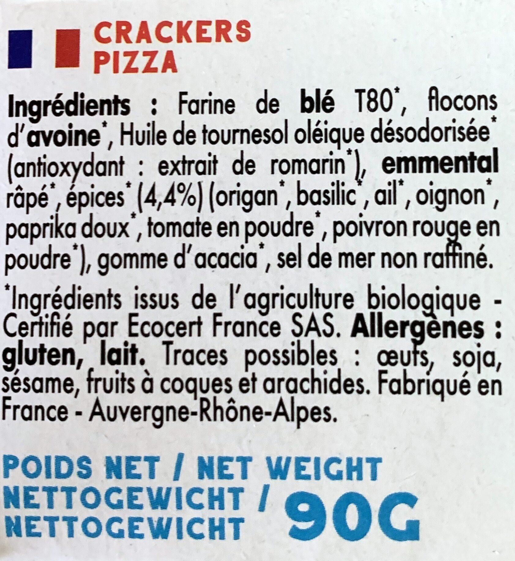 Mybioscore Pizza - Ingrédients - fr