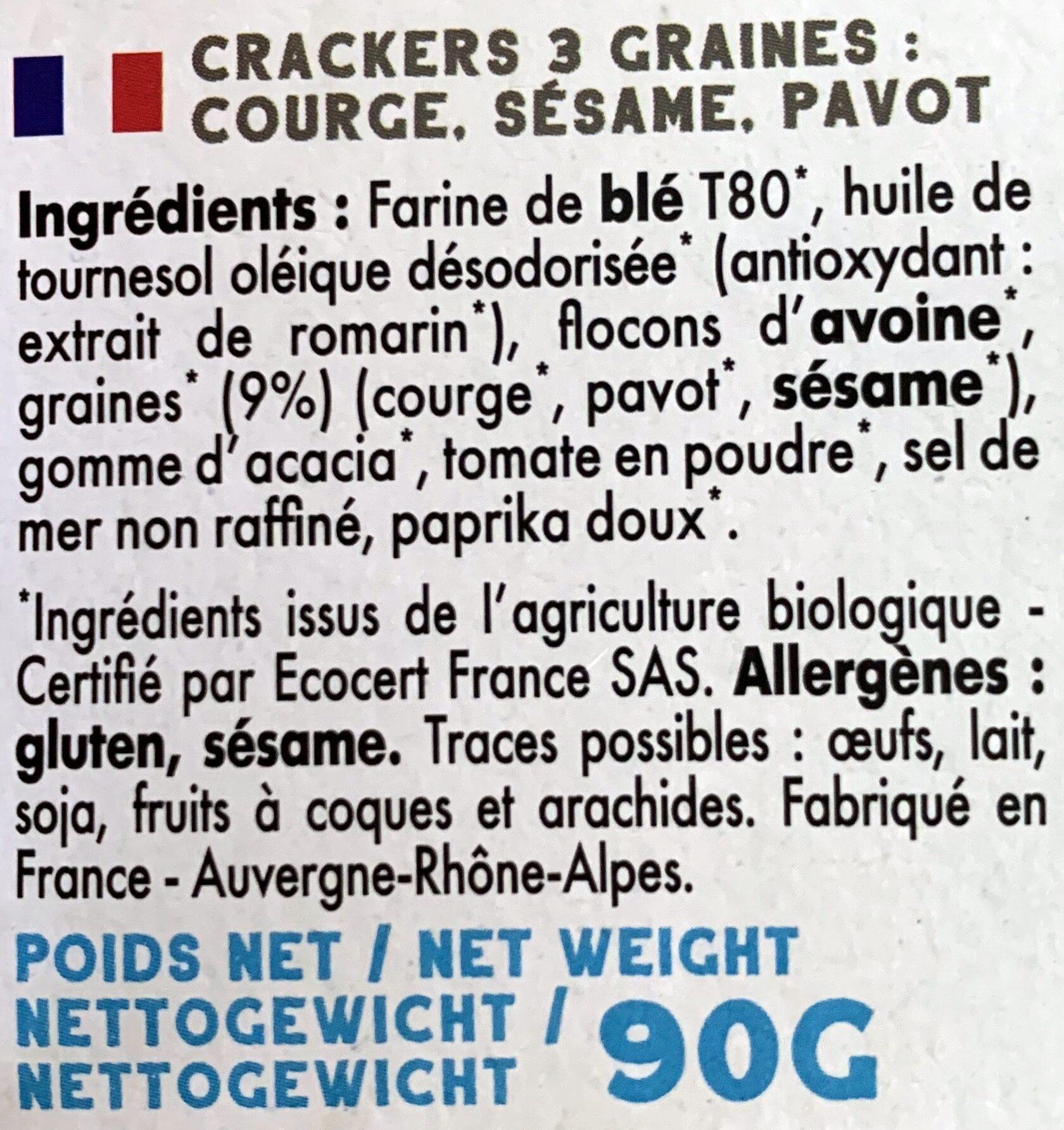 Mybioscore aux 3 Graines - Ingrédients - fr