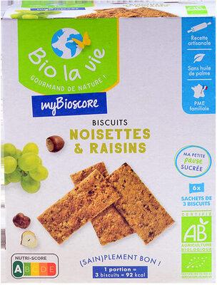 Mybioscore Noisettes Raisins - Produit