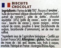 Mybioscore Chocolat - Ingrédients