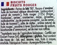 Mybioscore Fruits Rouges - Ingrédients - fr