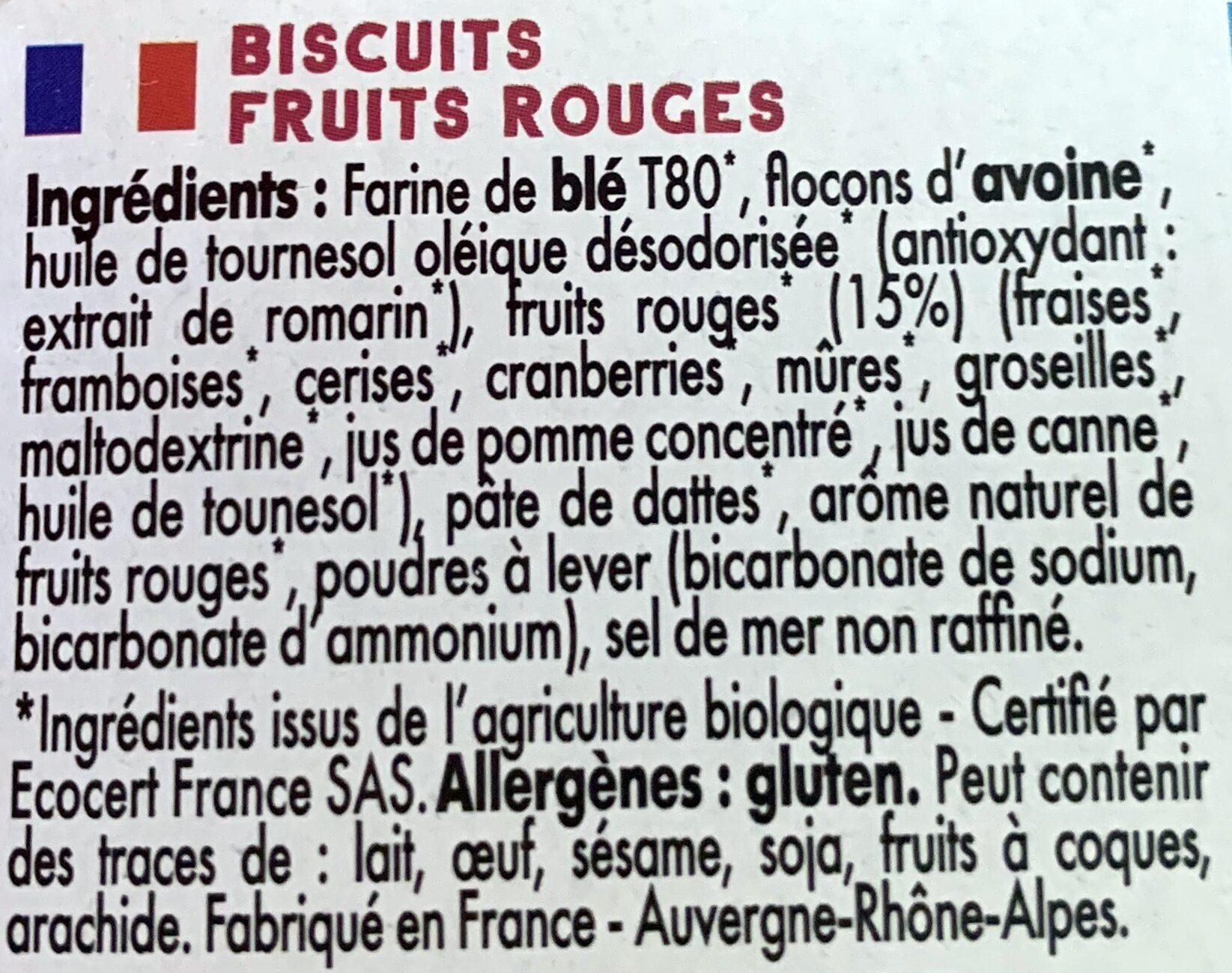 Mybioscore Fruits Rouges - Ingrédients