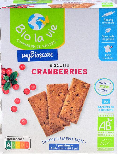 Mybioscore Cranberries - Produit