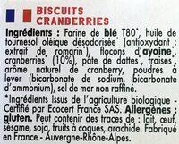 Mybioscore Cranberries - Ingrédients