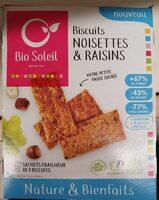 Biscuits noisettes & Raisins - Product