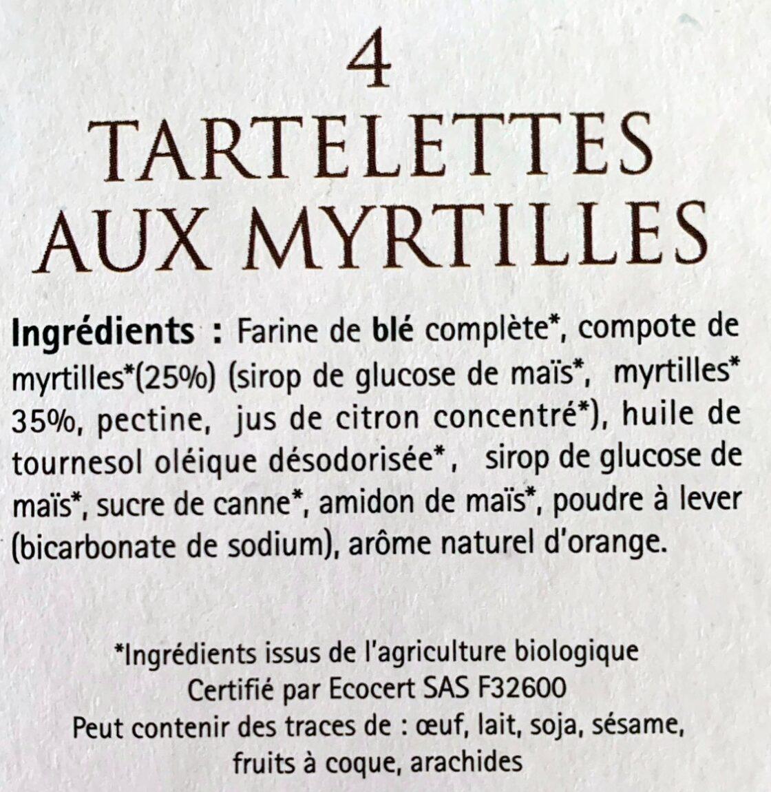 Tartelettes Aux Myrtilles Bio - Ingredients