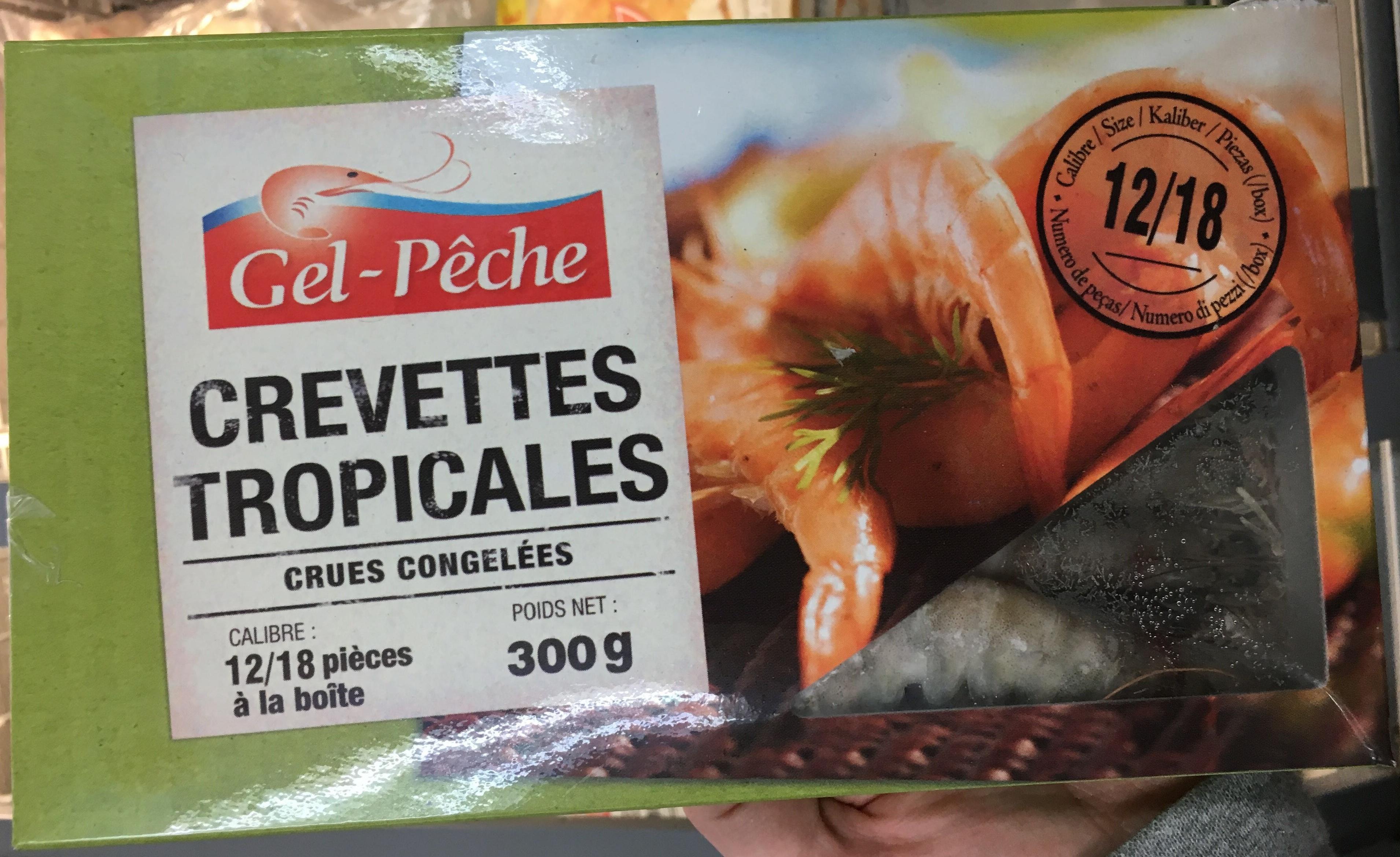 Crevettes tropicales crues congelées - Produit