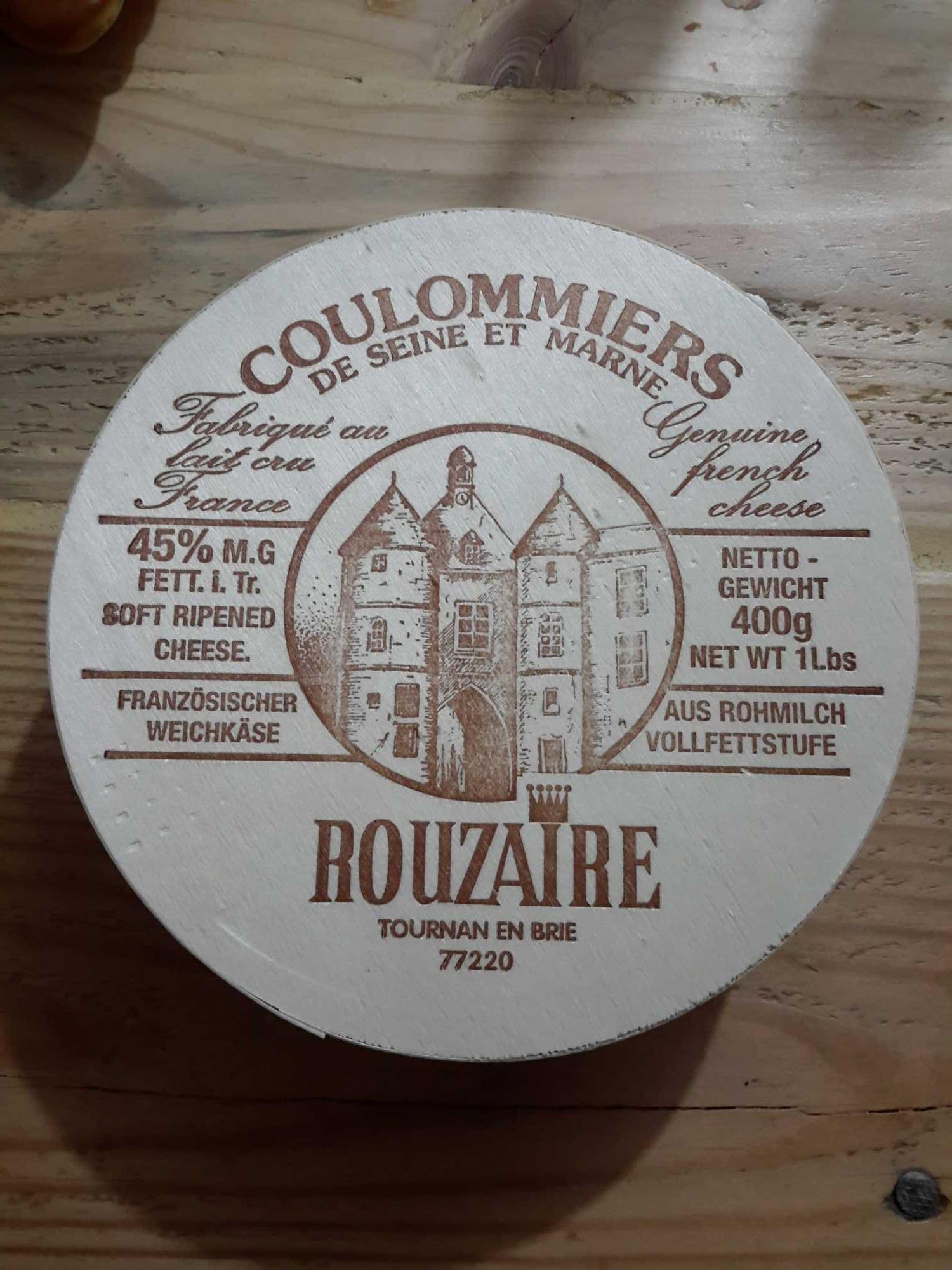 Coulommiers au lait cru - Produit