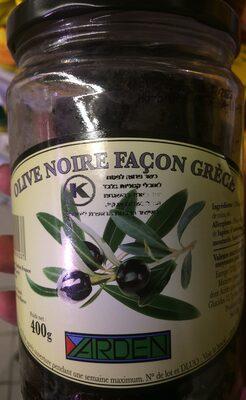 Olives noires façon Grèce - Product - fr