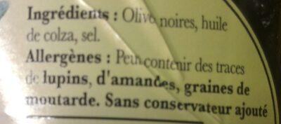 Olives noires façon Grèce - Ingredients - fr